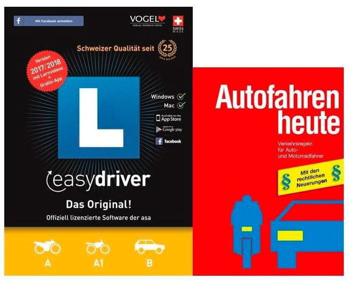 PC/Mac - easydriver 2017/18 (D/F/I/E) inkl. Theoriebuch Deutsch Physique (Box) 785300122657 Photo no. 1