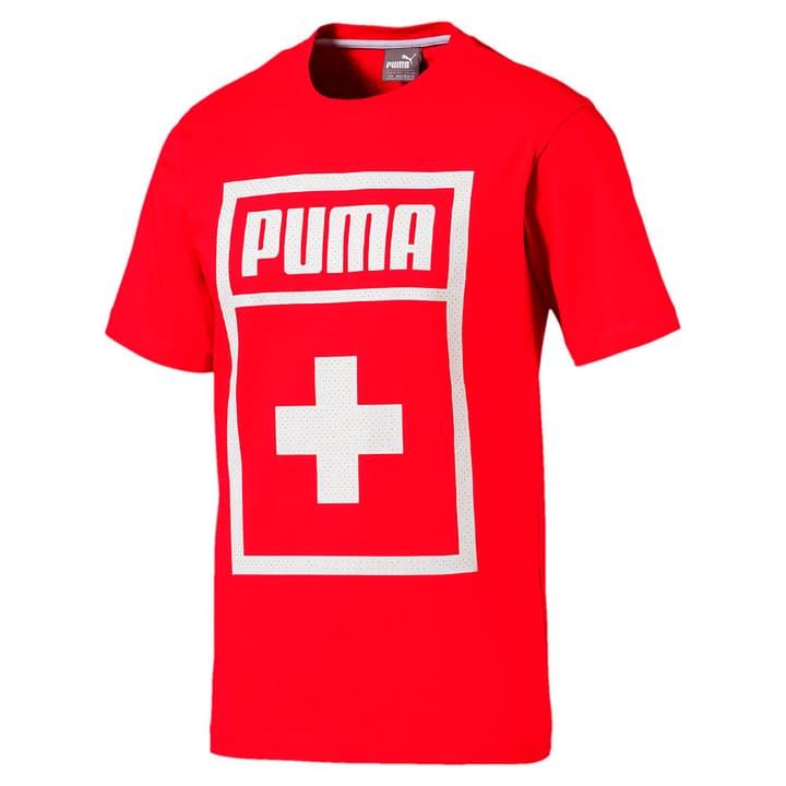 Forever Football Country Cotton T-shirt de football aux couleurs de la Suisse Puma 498280300530 Couleur rouge Taille L Photo no. 1