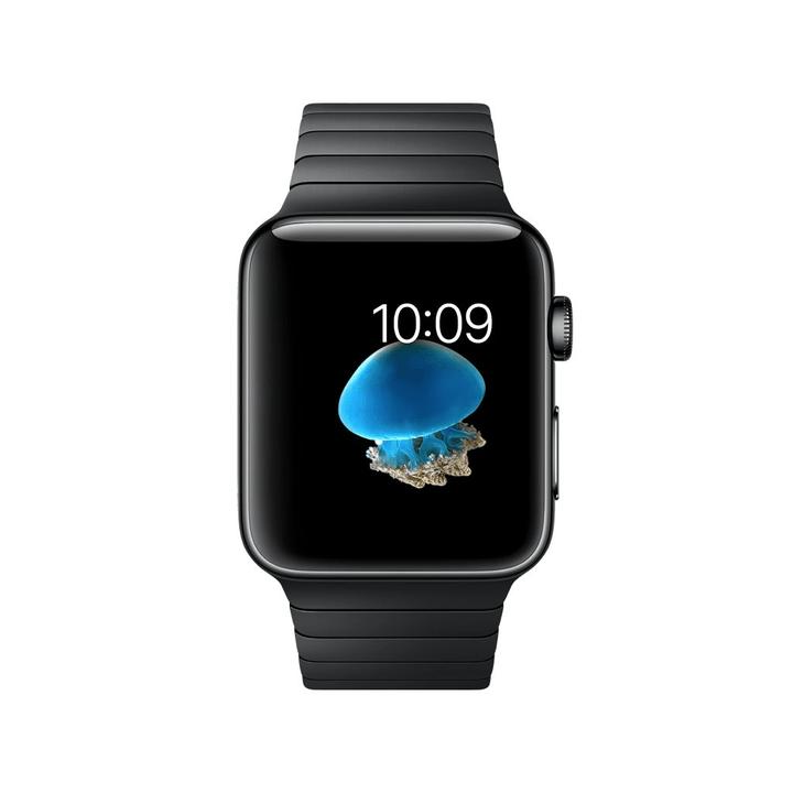 Watch Series 2, 42mm Boîtier en acier inoxydable noir sidéral avec Bracelet à maillons noir sidéral Apple 798149500000 Photo no. 1