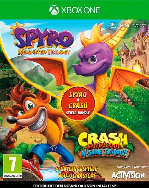 Xbox One - Spyro + Crash Remastered Spiele Bundle D Box 785300140685 N. figura 1