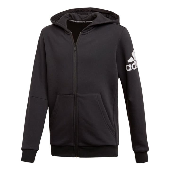 Must Haves Badge of Sport Track Jacket Veste à capuche pour enfants Adidas 466939815220 Couleur noir Taille 152 Photo no. 1