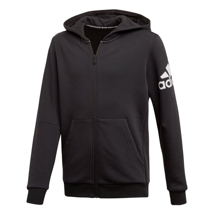Must Haves Badge of Sport Track Jacket Kinder-Kapuzenjacke Adidas 466939815220 Farbe schwarz Grösse 152 Bild-Nr. 1