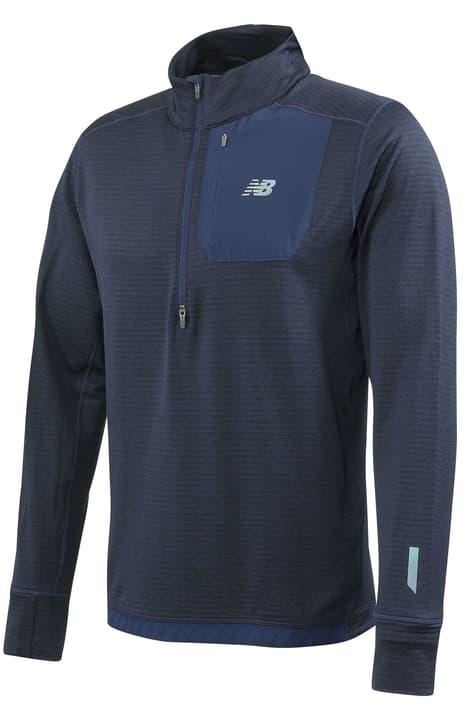 Heatgrid QTR Zip Pull pour homme New Balance 470199100322 Couleur bleu foncé Taille S Photo no. 1