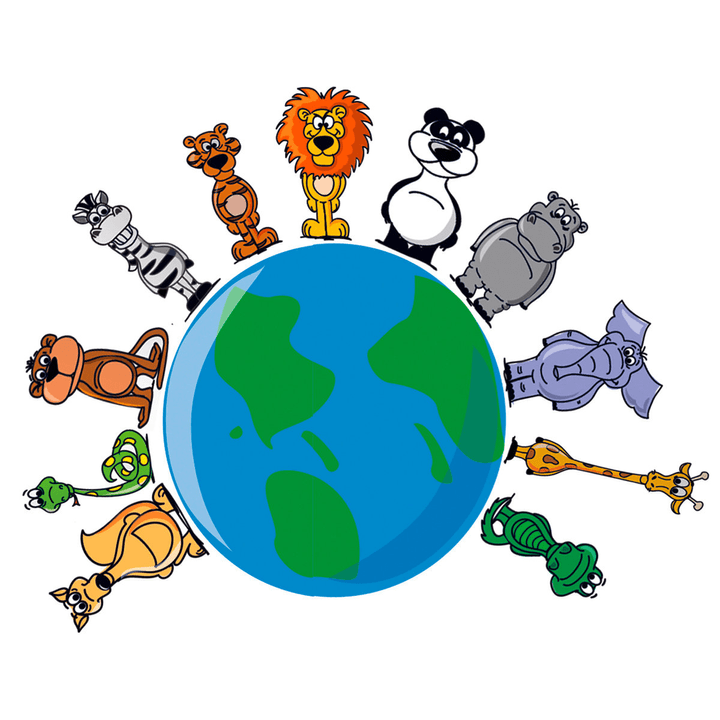 ANIMALS AROUND EARTH Sticker 433001002300 Dimensions L: 60.0 cm x P: 60.0 cm Photo no. 1
