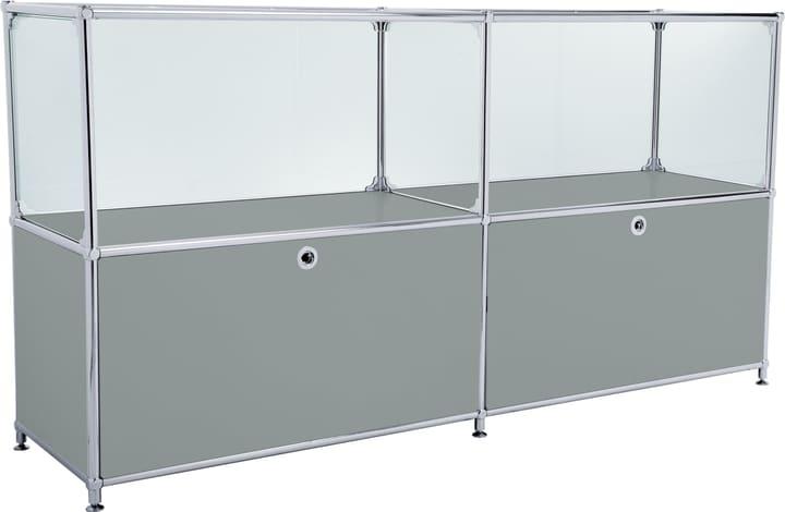 FLEXCUBE Sideboard 401814120280 Farbe Grau Grösse B: 152.0 cm x T: 40.0 cm x H: 80.5 cm Bild Nr. 1