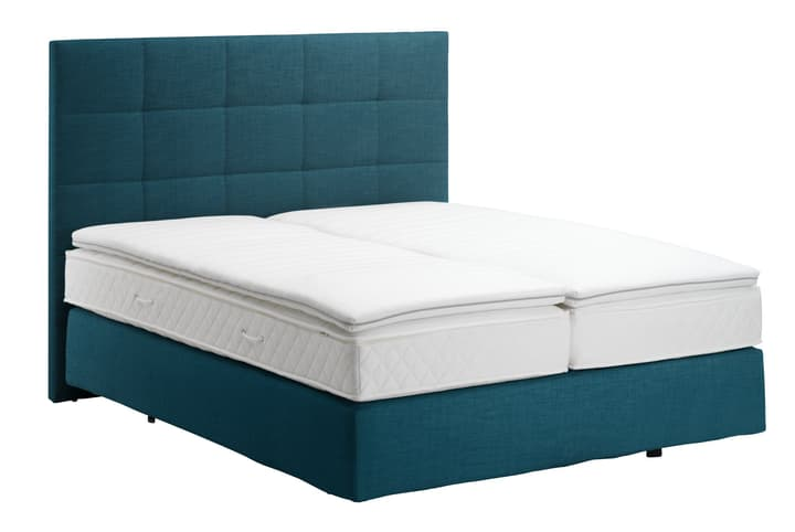 NAVIER Lit Boxspring 403460800000 Couleur Pétrole Dimensions L: 160.0 cm x P: 200.0 cm Photo no. 1