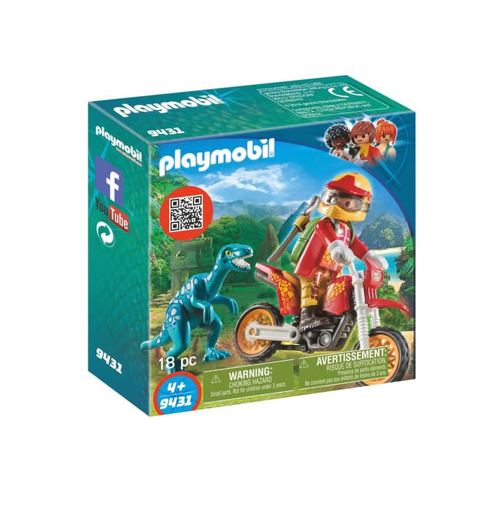 Playmobil Moto da cross e Raptor 9431 746096400000 N. figura 1