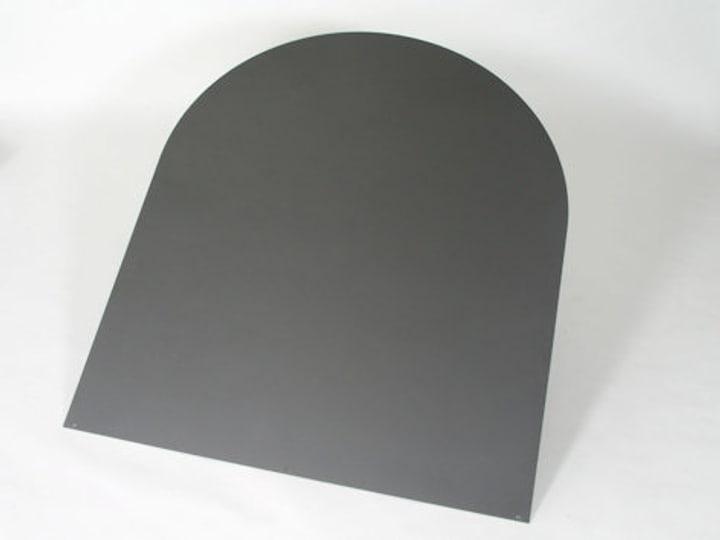 Bodenplatte Stahl halbrund grau 678014100000 Bild Nr. 1