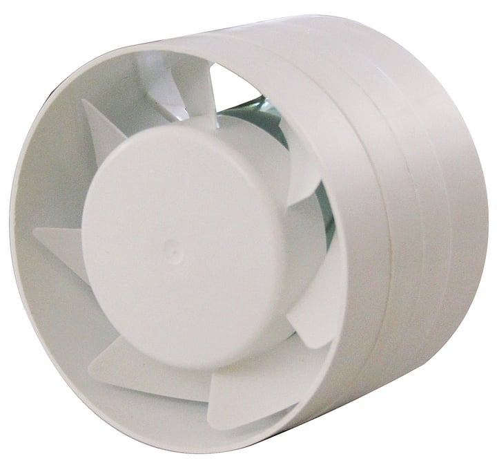 Ventilateur tubulaire à insérer Suprex 678048800000 Couleur Blanc Annotation Ø 100 mm Photo no. 1