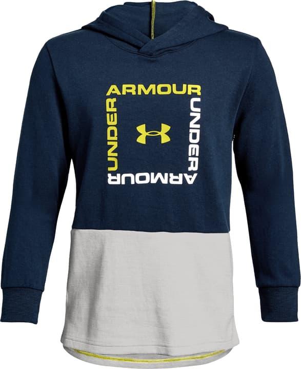 Boys' Unstoppable Double Knit Hoody Sweat-shirt à capuche pour enfants Under Armour 466904014043 Couleur bleu marine Taille 140 Photo no. 1