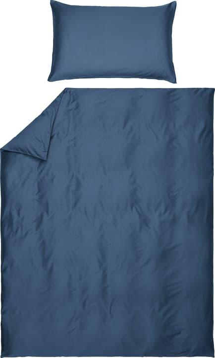 PENELOPE Taie d'oreiller en satin 451193010843 Couleur Bleu foncé Dimensions L: 70.0 cm x H: 50.0 cm Photo no. 1