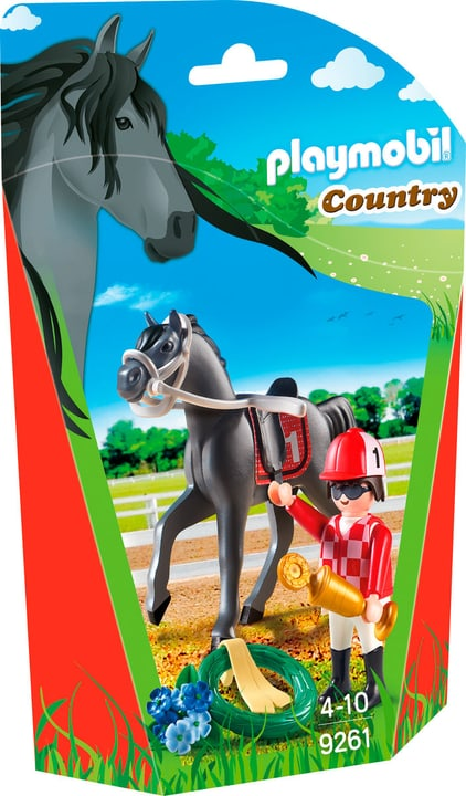 Playmobil Country Jockey avec cheval de course 9261 746079600000 Photo no. 1