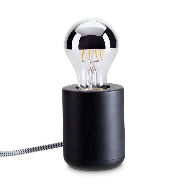 BASE Lampe de table 380044100000 Dimensions L: 7.0 cm x P: 7.0 cm x H: 17.0 cm Couleur Noir Photo no. 1