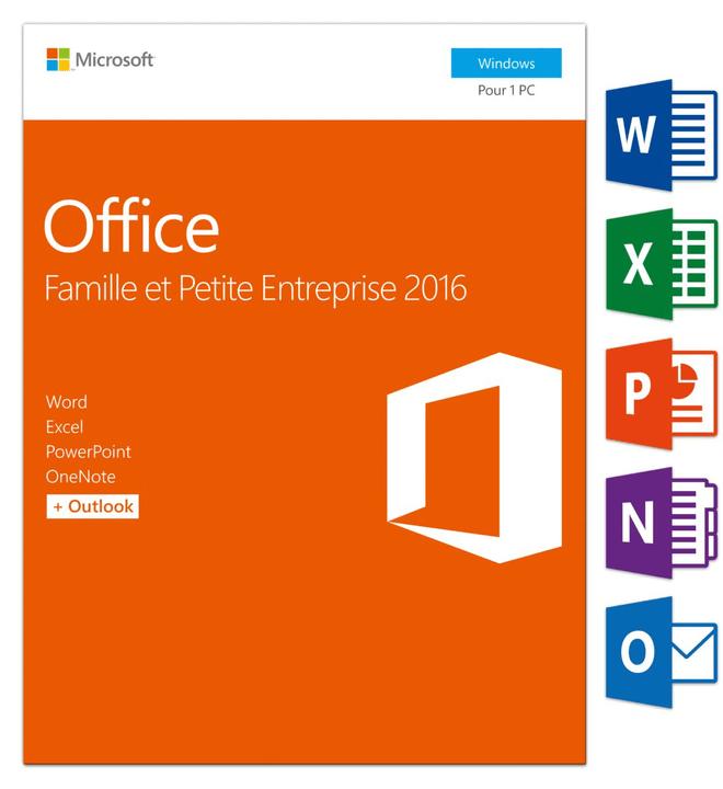 Microsoft Office Famille & Petite Entreprise 2016 PC (F) Physique (Box)