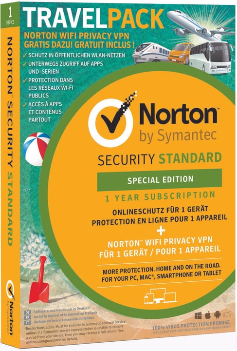 Security Standard 3.0 Travel Pack Limited Edition Physique (Box) Norton 785300137393 Photo no. 1