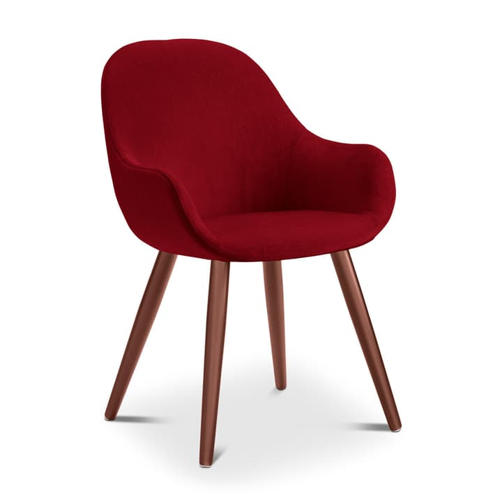LAYLA Chaise Evita 366027485316 Dimensions L: 56.0 cm x P: 60.0 cm x H: 84.0 cm Couleur Rouge Photo no. 1