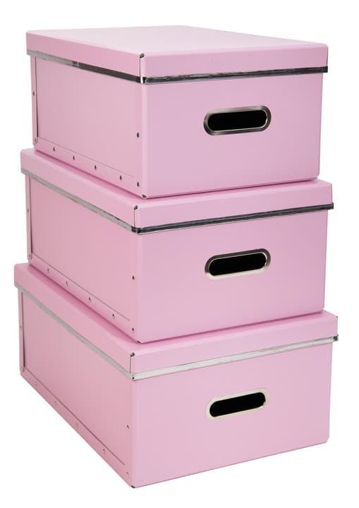 NAOMI Contenitori portaoggetti 440704600000 Colore Rosa Dimensioni L: 39.5 cm x P: 28.5 cm x A: 17.0 cm N. figura 1