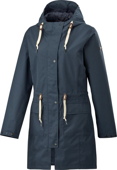 Taslina Cappotto impermeabile da donna Rukka 498425903443 Colore blu marino Taglie 34 N. figura 1
