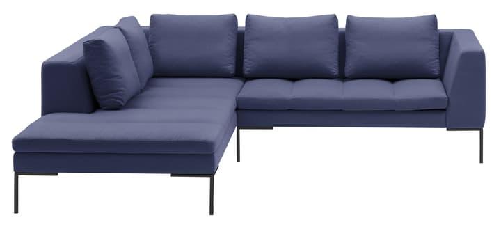 BADER Canapé d'angle 405686450540 Dimensions L: 255.0 cm x P: 230.0 cm x H: 80.0 cm Couleur Bleu Photo no. 1