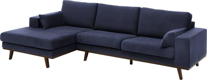 MORITZ Canapé d'angle 405741950043 Couleur Bleu marine Dimensions L: 282.0 cm x P: 154.0 cm x H: 81.0 cm Photo no. 1