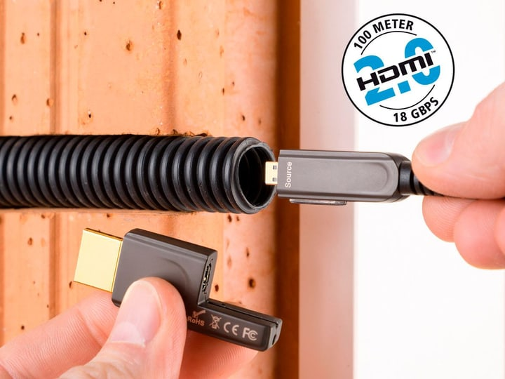 Excellence Profi HDMI-MicroLWL, 100,0m Câble professionnel HDMI-Micro 2.0 à fibre optique inakustik 785300143797 Photo no. 1