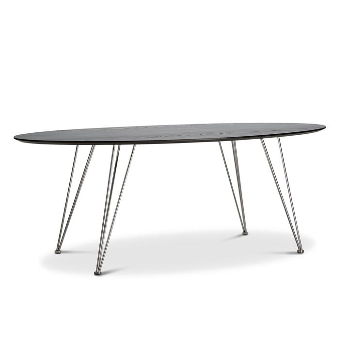 BETTY Table 366107200000 Dimensions L: 200.0 cm x P: 100.0 cm x H: 74.0 cm Couleur Noir Photo no. 1