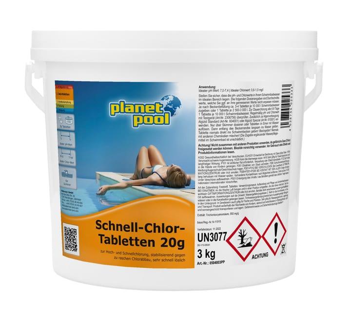 Schnell-Chlor-Tabletten 20g Planet Pool 647005600000 Bild Nr. 1