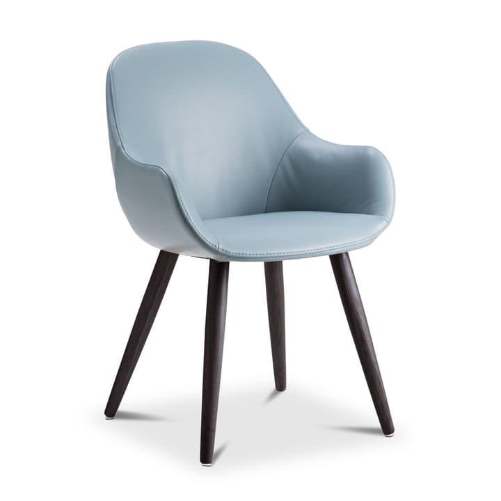 LAYLA Chaise cuir aniline Sauvage 366028939207 Dimensions L: 56.0 cm x P: 60.0 cm x H: 84.0 cm Couleur Bleu pastel Photo no. 1