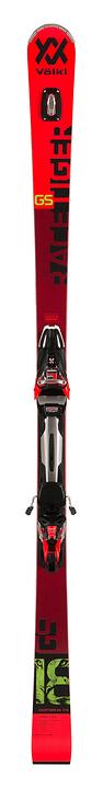 Racetiger GS inkl. rMotion2 12 GW Skis On Piste avec fixations Völkl 464304617030 Couleur rouge Longueur 170 Photo no. 1