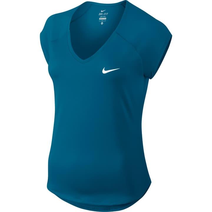 Court Pure Tennis Top Damen-Tennis-T-Shirt Nike 473216200365 Farbe petrol Grösse S Bild-Nr. 1
