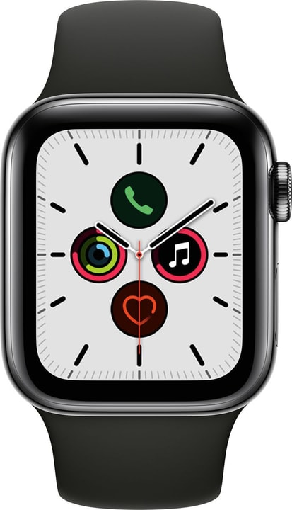 Watch Series 5 LTE 40mm space black Stainless Steel Black Sport Band Smartwatch Apple 785300146945 Photo no. 1