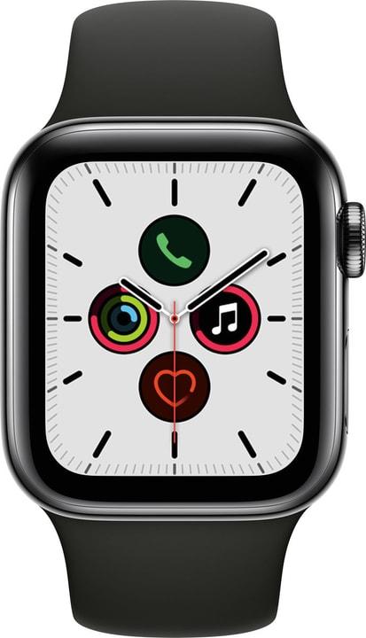 Watch Series 5 LTE 40mm space black Stainless Steel Black Sport Band Smartwatch Apple 785300146945 N. figura 1