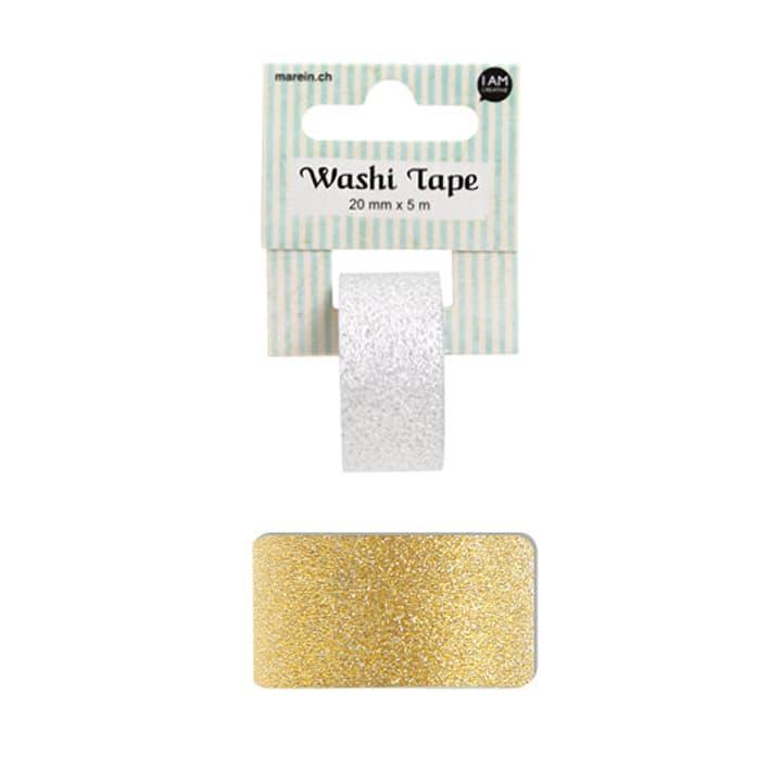 Washi glitter gold 2CMX5M I AM CREATIVE 661453800000 Bild Nr. 1