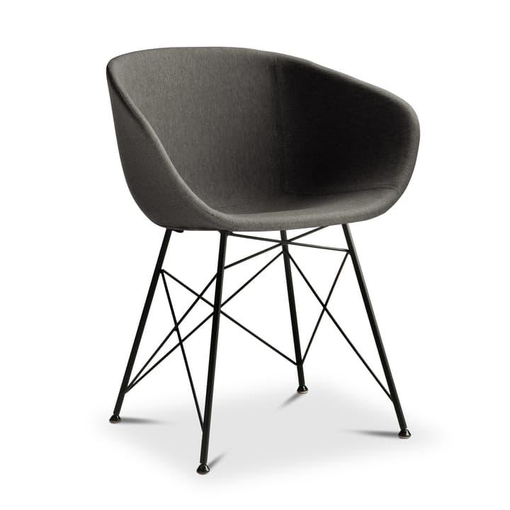 SEDIA Chaise avec accoudoirs 366184100000 Dimensions L: 45.0 cm x P: 58.0 cm x H: 81.0 cm Couleur Gris Photo no. 1