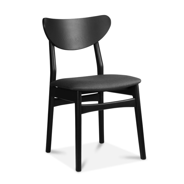 MAXWELL Chaise 366029085101 Dimensions L: 44.0 cm x P: 41.0 cm x H: 82.0 cm Couleur Noir Photo no. 1