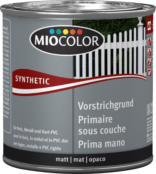 Synthetic Vorstrichgrund Weiss 375 ml Miocolor 661445500000 Farbe Weiss Inhalt 375.0 ml Bild Nr. 1