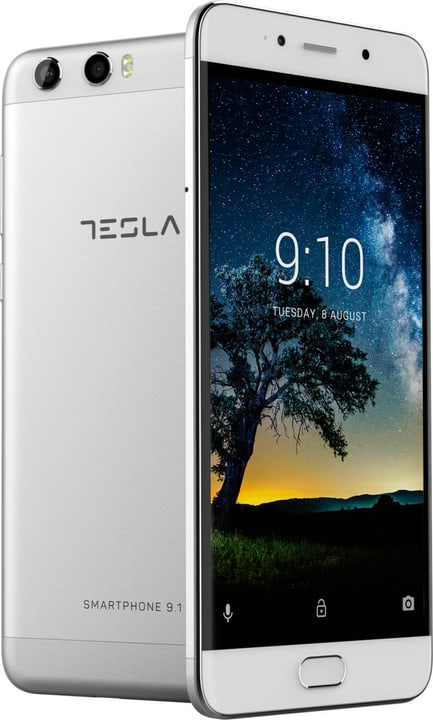 Smartphone 9.1 Dual SIM 64GB silber Smartphone Tesla 785300133173 Bild Nr. 1