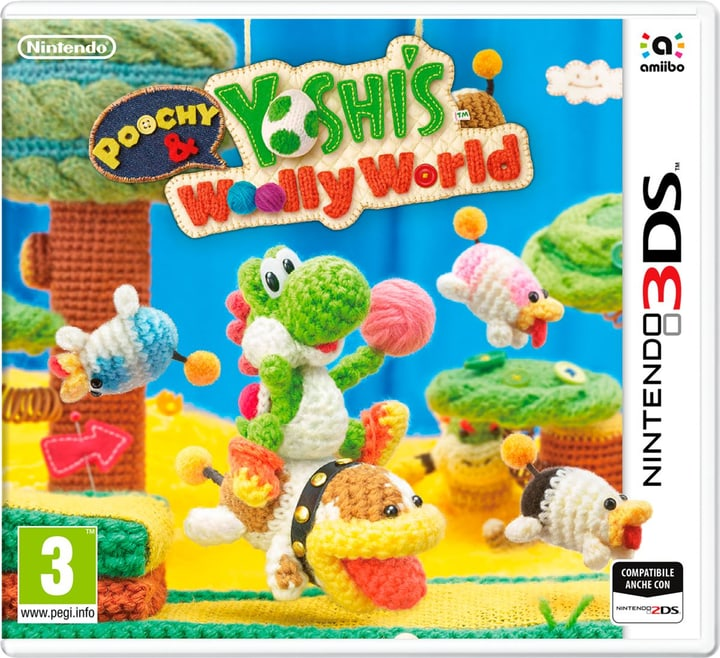 3DS - Poochy & Yoshis Woolly World Box 785300121520 N. figura 1