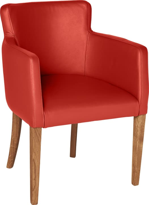 MORISANO Chaise 402358200030 Dimensions L: 56.0 cm x P: 46.0 cm x H: 79.0 cm Couleur Rouge Photo no. 1