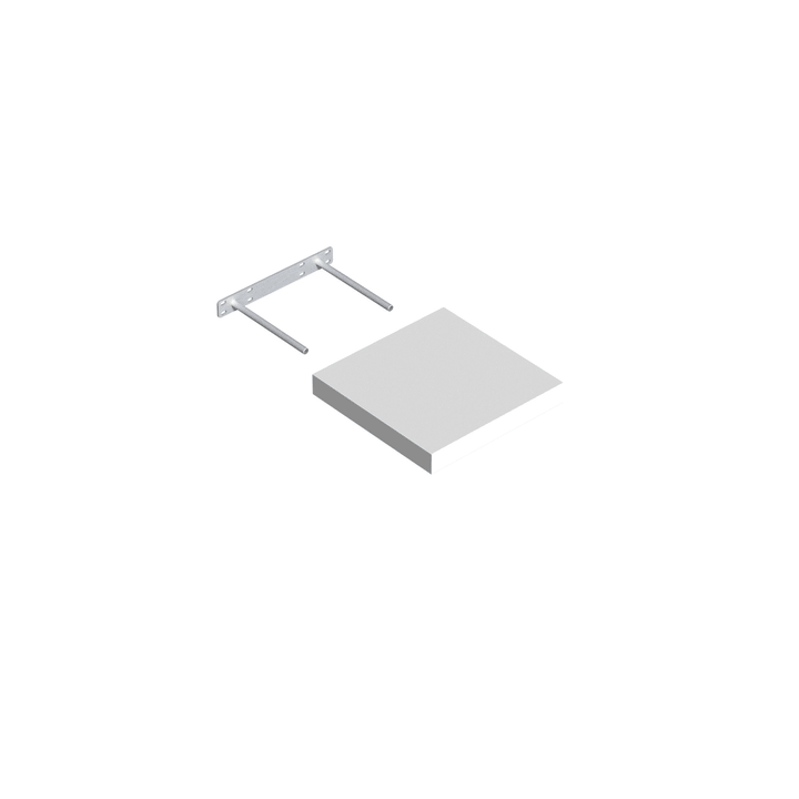 Mensola Design legno bianco velano 606078000000 N. figura 1