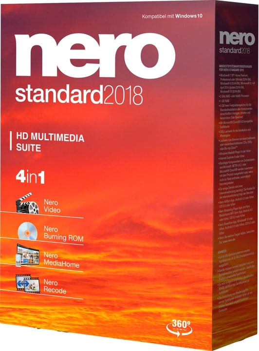 Nero Standard 2018 Physique (Box) Nero 785300131751 Photo no. 1