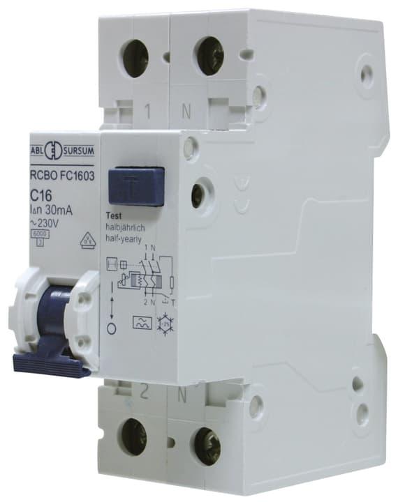 Disjoncteur automatique différentiel 16A 30mA 1-pôle + N 612165800000 Photo no. 1