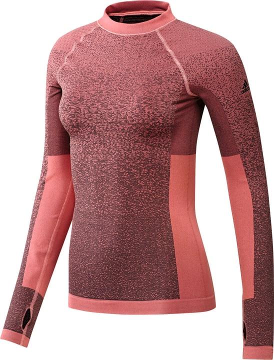 Damen-Langarm-Shirt funktionell Adidas 460999600238 Farbe rosa Grösse XS Bild-Nr. 1