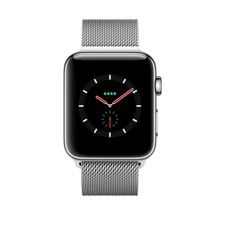 Watch Series 3 GPS/LTE 42mm stainless/milanese Apple 785300129996 Photo no. 1