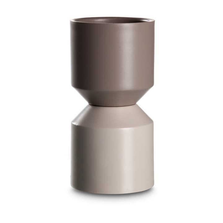 GIRO Porte-bougies chauffe-plat 396089900000 Dimensions L: 9.0 cm x P: 9.0 cm x H: 18.0 cm Couleur Gris Photo no. 1