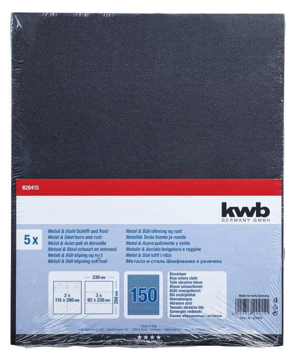 Toile émeri bleu en vrac GR. 150, 5 pcs. kwb 610552800000 Photo no. 1