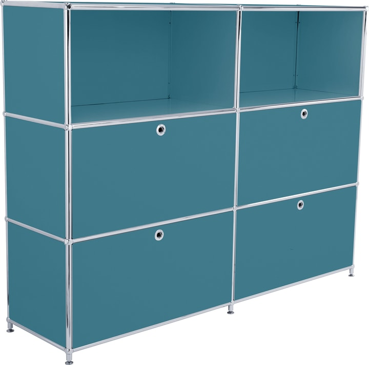 FLEXCUBE Buffet haut 401809100066 Dimensions L: 152.0 cm x P: 40.0 cm x H: 118.0 cm Couleur Pétrole Photo no. 1