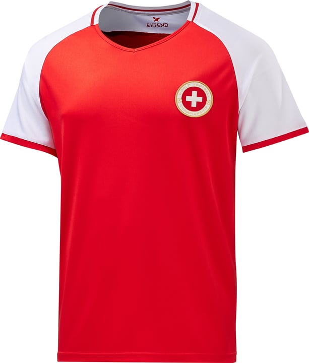 Schweiz / Suisse / Svizzera Maillot de supporter de football Extend 498283400330 Couleur rouge Taille S Photo no. 1
