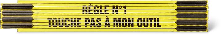 """Klappmeter """"RÈGLE N°1 - TOUCHE PAS À MON OUTIL"""", GELB/SCHWARZ"""" 603690000000 Bild Nr. 1"""