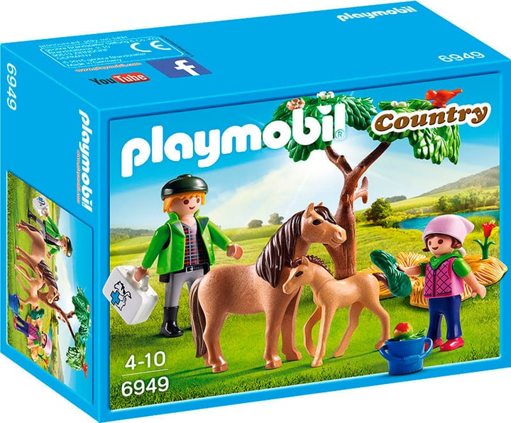 PLAYMOBIL Country Maman poney avec poulain 6949 746060900000 N. figura 1